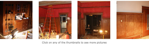 Photos of the dining room during reconstruction