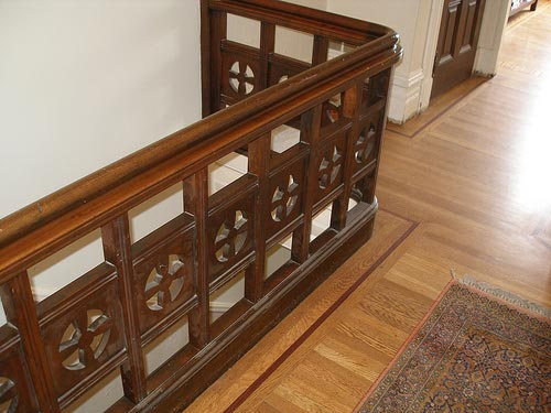 Victorian upstairs banister