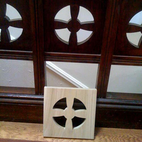 Victorian banister cross recreated