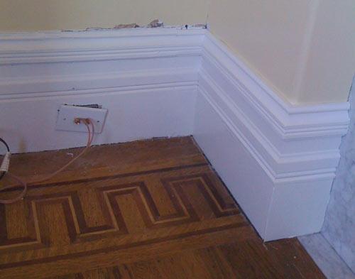Victorian moldings restored