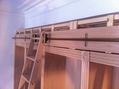 Fitting Victorian Library Ladder to Cabinets