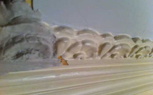Recreating crown molding with clay
