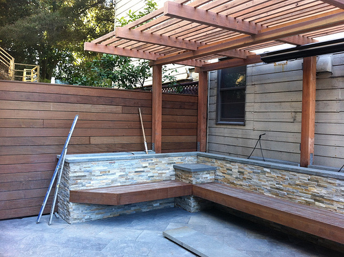 Pergola and Ipe Fence